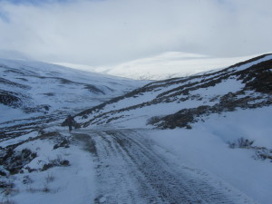 This hilltrack on Dalnaspidal estate just inside the CNPA boundary was created 2-3 years ago