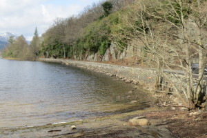 Most of the Loch Ard shoreline looks like this