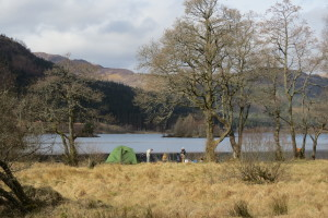 Camping at south end of Loch Chon