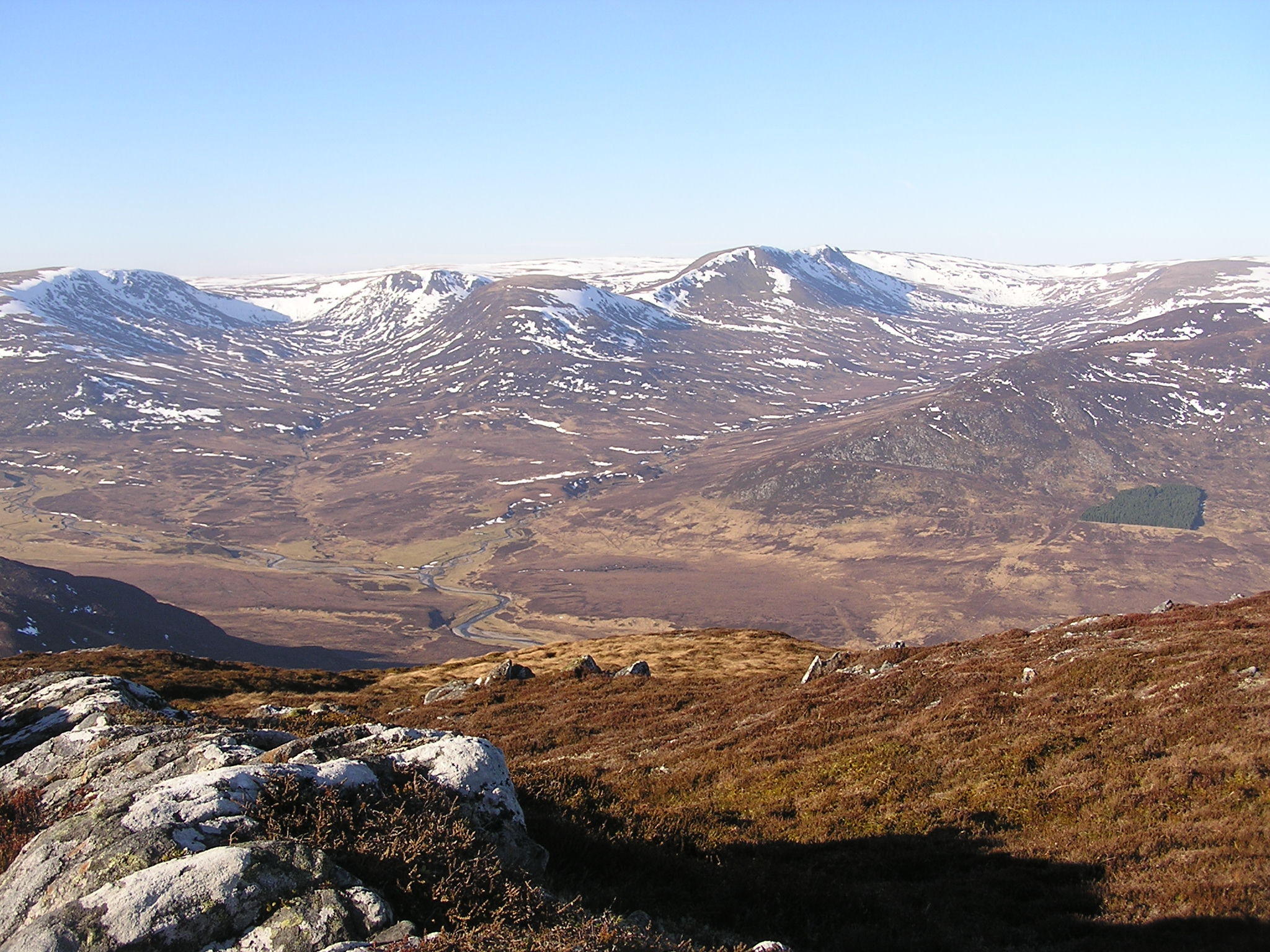 The edge of the Monadhliath from Creag Dubh