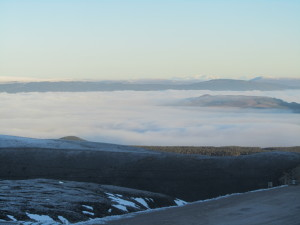Yesterday was a lovely day.  Temperature inversion over Aviemore