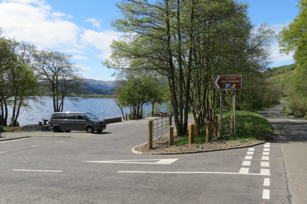 North Loch Venachar site owned by the LLTNPA showing new car park
