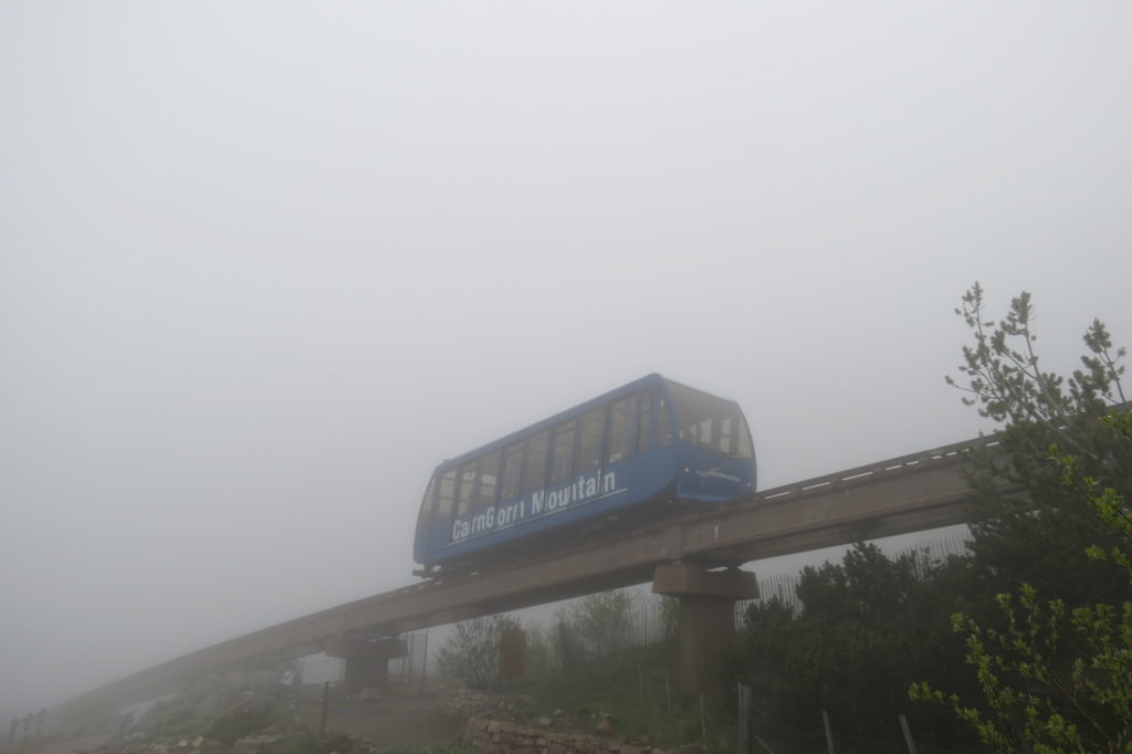 The funicular was practically empty - its amazing that anyone would take a journey even further into the cloud