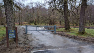 Loch Chon Gates Closed no access for drop in campsers.