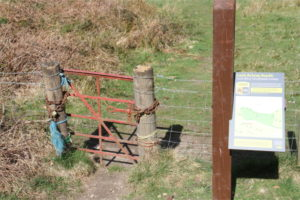 Tripple Locked Gate excluding visitors from 4 Pitches